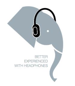 ilustração elefante fone