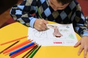 Fellipe Salgado, 11 anos, é de São Paulo, e se empenhou no convite para colorir Maia e Guida